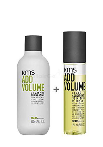 KMS Addvolume Set - Shampoo 300ml + Leave-In Conditioner 150ml - NEU