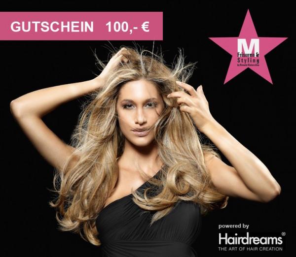 Friseursalon Gutschein 100 EUR