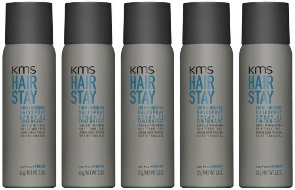 KMS Hairstay Firm Finishing Hairspray 75 ml - 5 er Set = 375 ml