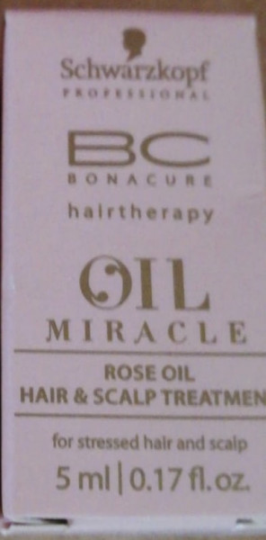 3 x Schwarzkopf Bonacure Oil Miracle Rose for stessed hair and scalp 5 ml