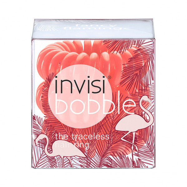 invisibobble Wild Whisper Collection fancy flamingo (rotorange) (3er-Packung)